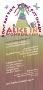 TOL Alice in Wonderland flyer